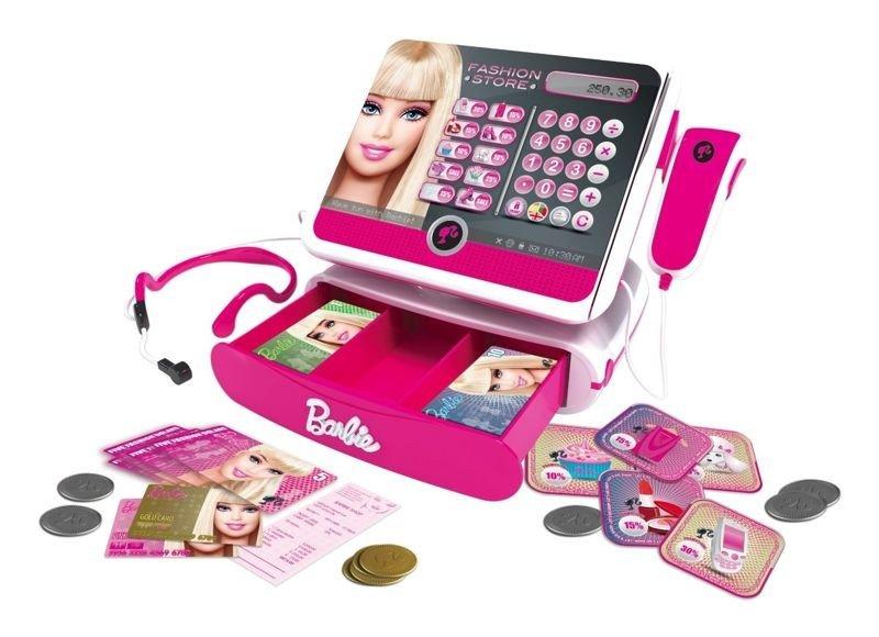Barbie Kasa Sklepowa Skaner Banknoty Monety Zabawki Gry