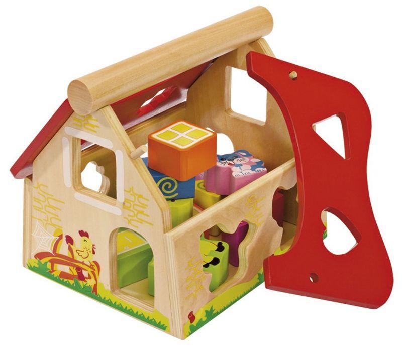 Eichhorn Edukacyjny drewniany domek kształtów 2098   -> Eichhorn Kuchnia Dla Dzieci