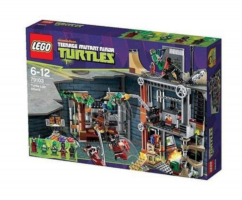 Klocki lego turtles 79103 atak na jaskini wi zabawki for Lago tartarughe