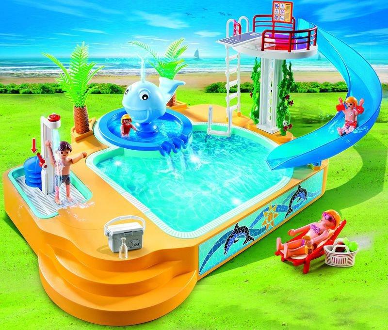 Playmobil 5433 aquapark z fontann wieloryba basen for Piscine playmobil 5433