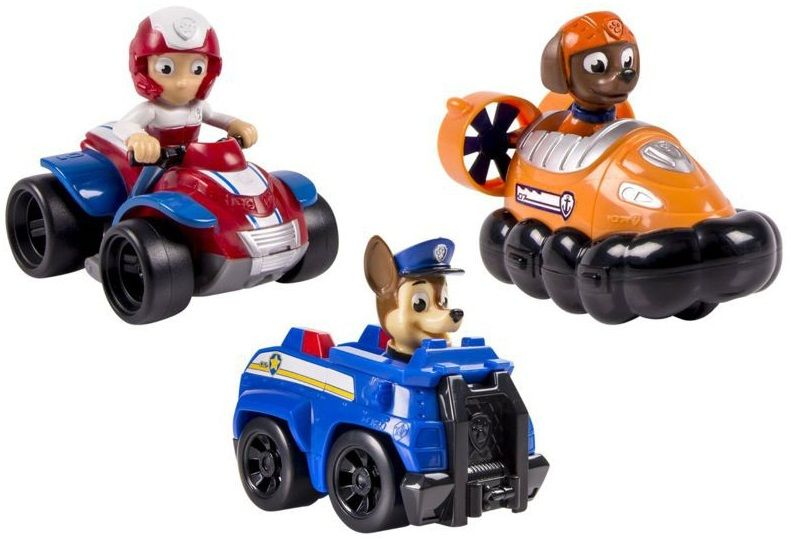 Psi Patrol Zestaw Wycigowy Chase Zuma I Ryder Zabawki