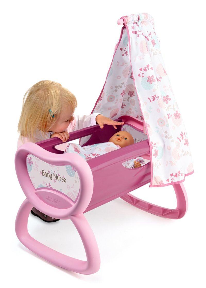 smoby 220301 baby nurse ko yska dla lalek z baldachimem. Black Bedroom Furniture Sets. Home Design Ideas