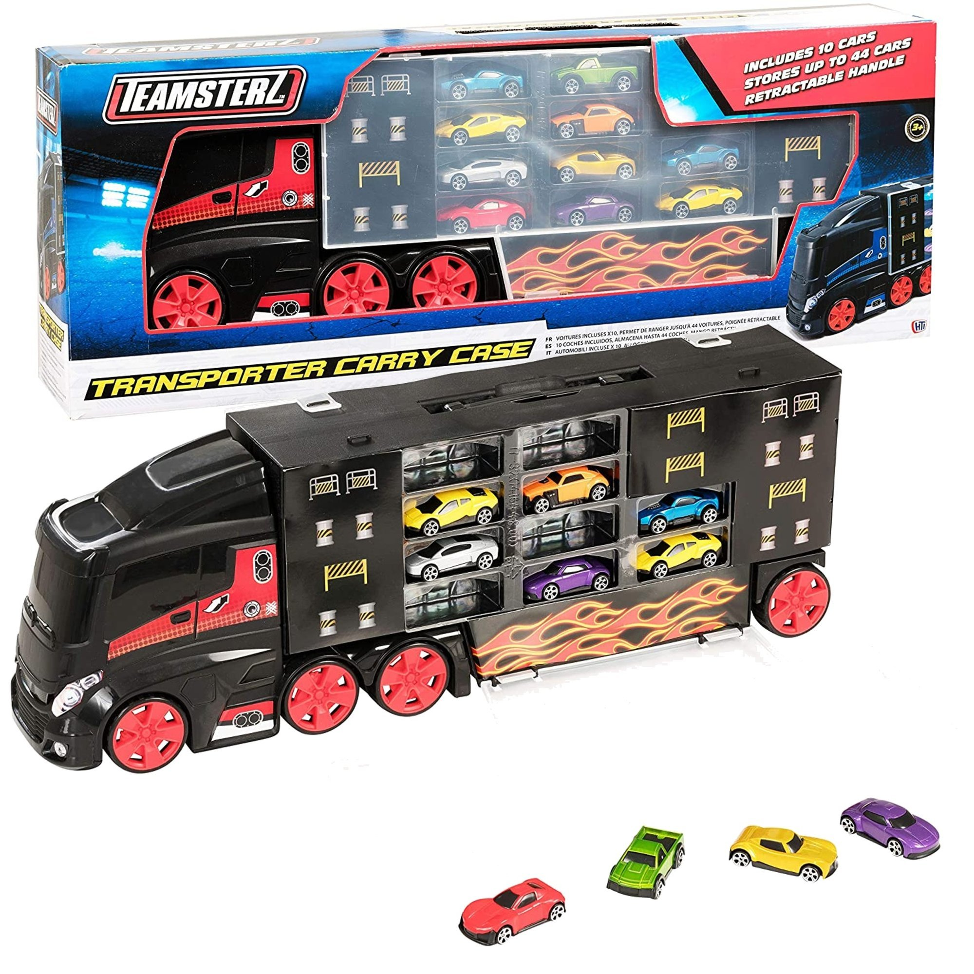 HTI TeamsterZ Ciê¿arówka Transporter + 10 autek