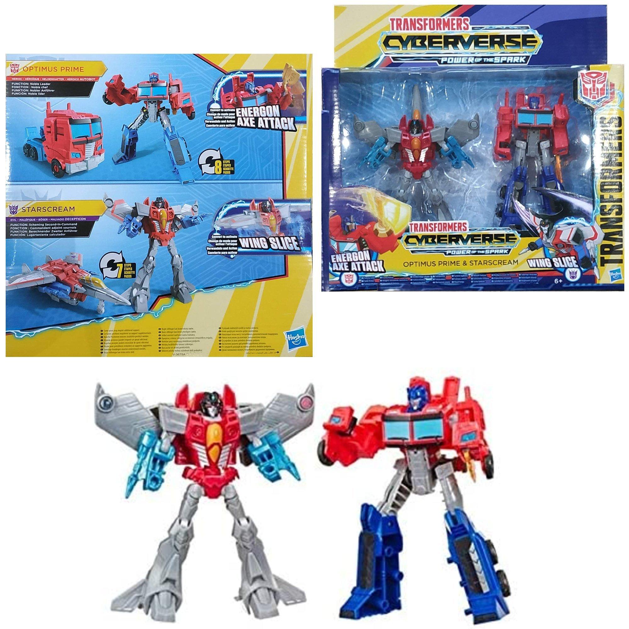 Hasbro E5557 Transformers figurki Optimus Starscream Autoboty, Roboty