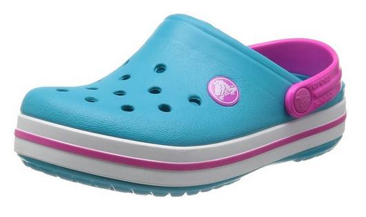 San Francisco klasyczny styl dobra sprzedaż Crocs Crocband Surf Neon Magenta Turkusowe-różowe klapki