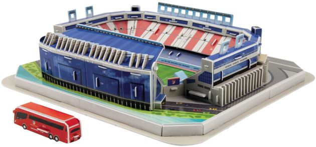 puzzle 3d 20103 model stadionu vicente calderon atletico madrid zabawki gry zr czno ciowe. Black Bedroom Furniture Sets. Home Design Ideas
