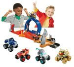 Fisher Price Blaze i mega maszyny Tor Monster Dome i 4 Auta Blaze Crusher Sfinks Knight