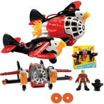 Fisher Price Imaginext Samolot Twin Eagle T5122 z figurką