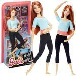 Mattel Lalka Barbie ruda Made to move DPP74