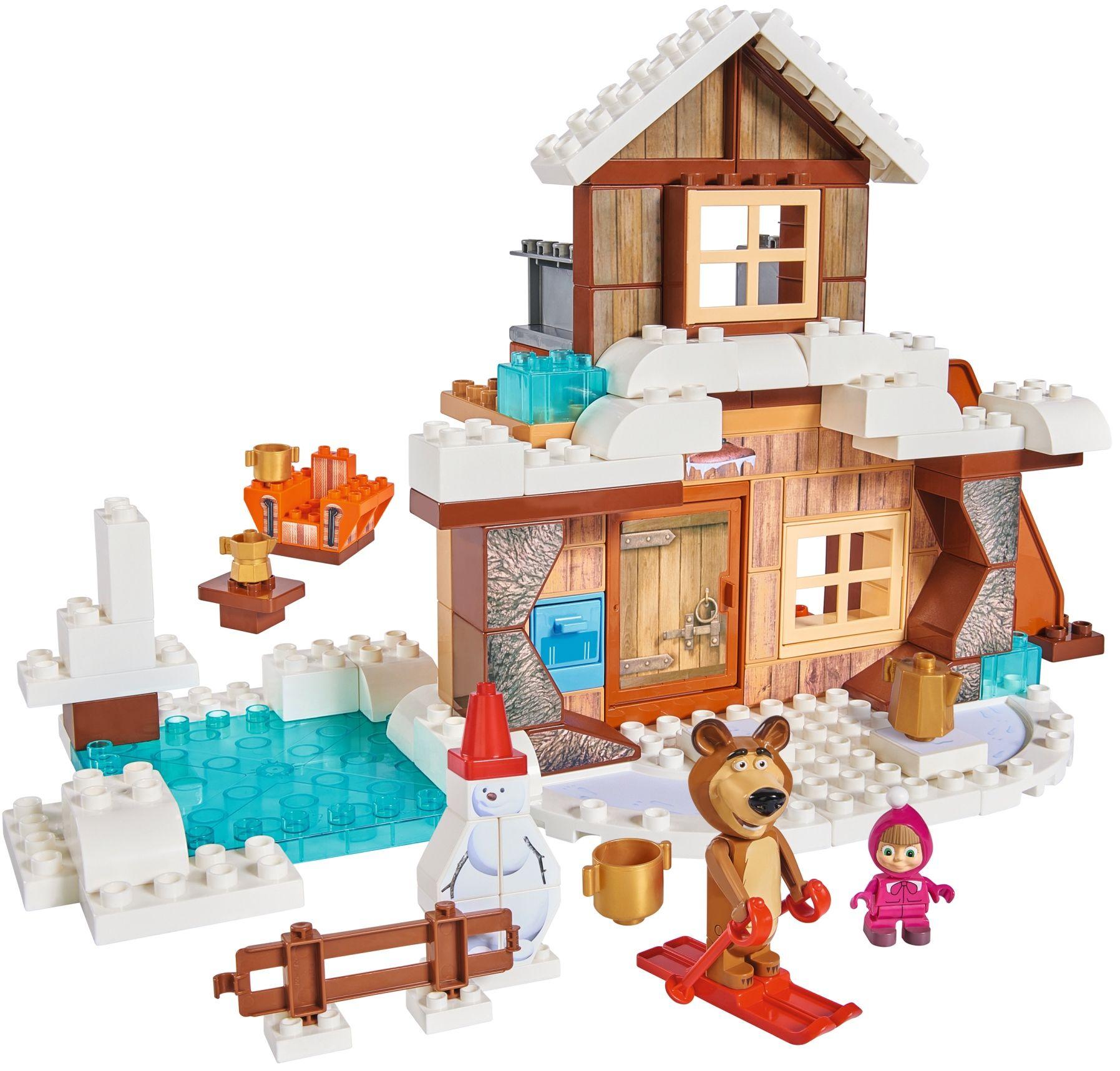 Big Klocki Masza I Niedźwiedź Zimowy Dom Miszy Humbipl