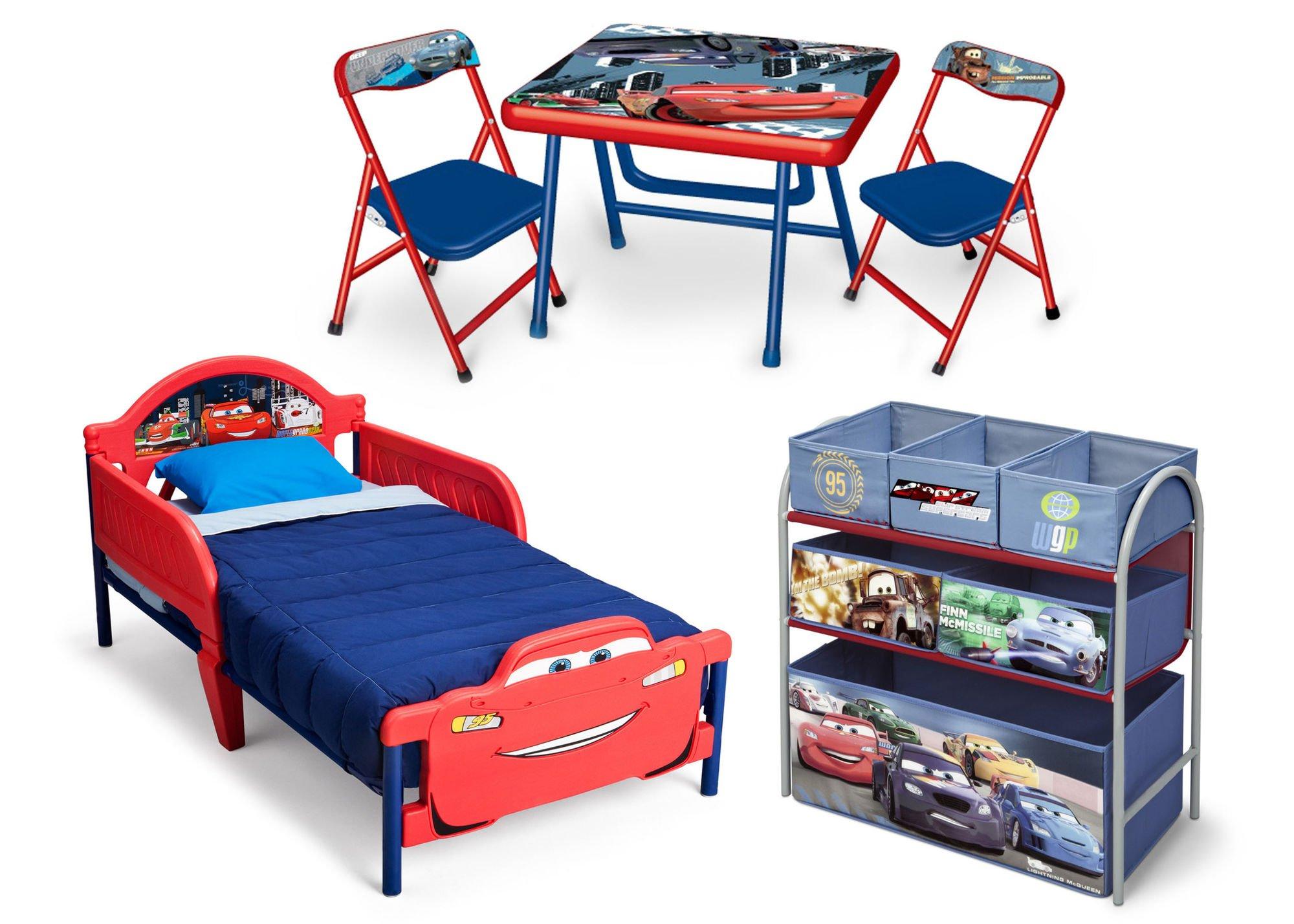 delta zestaw mebli disney cars auta ko stolik z krzese kami organizer akcesoria dla. Black Bedroom Furniture Sets. Home Design Ideas