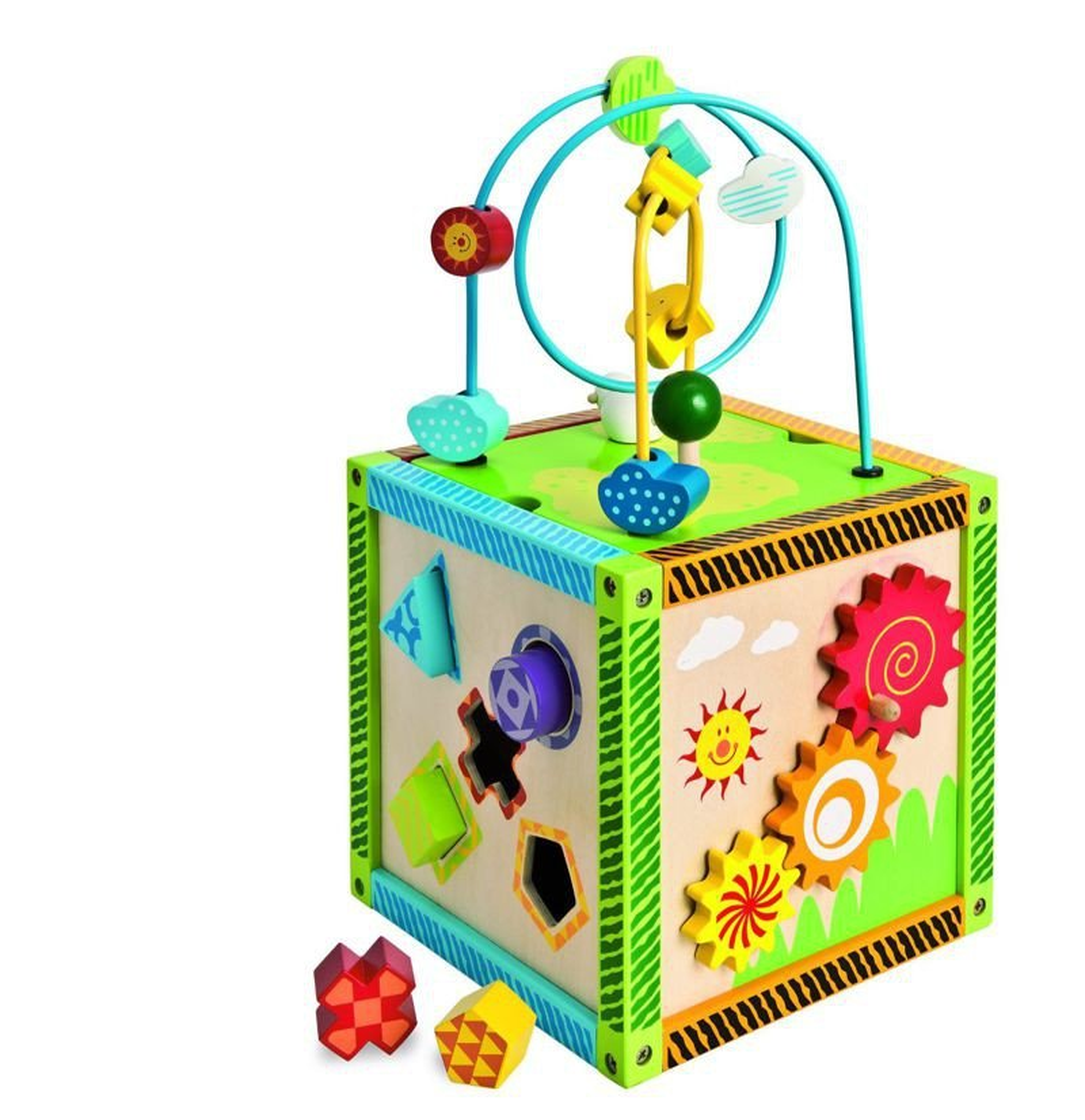 Eichhorn 100002235 Drewniana kostka edukacyjna  Zabawki   # Eichhorn Kuchnia Dla Dzieci