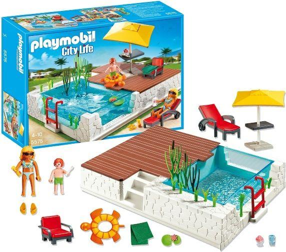 Klocki playmobil 5575 city life taras z basenem 41 for Piscine playmobil 5575