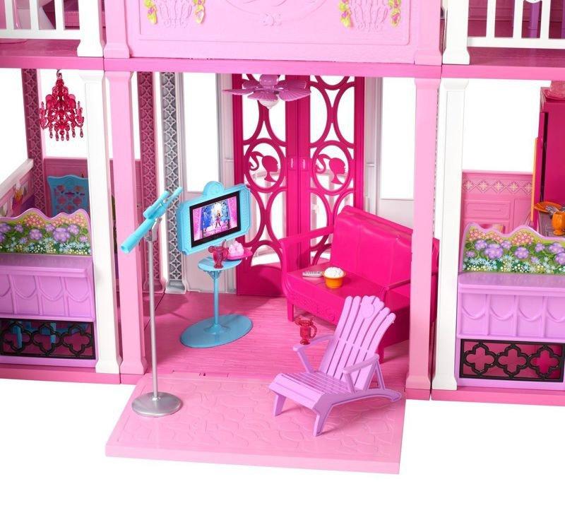 Mattel barbie w3141 wielki domek dla lalek zabawki gry for Casa di malibu di barbie
