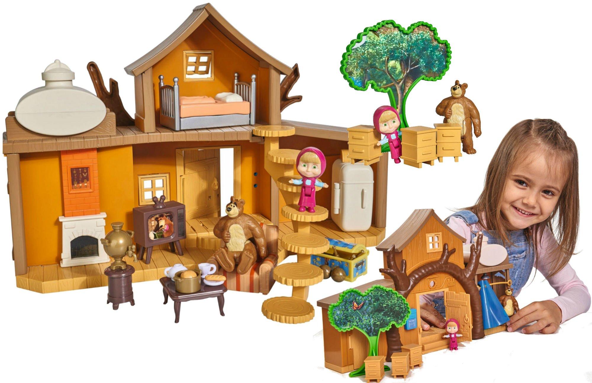 Simba Masza i Niedźwiedź Duży dwupoziomowy dom domek Niedźwiedzia Miszy z dźwiękiem