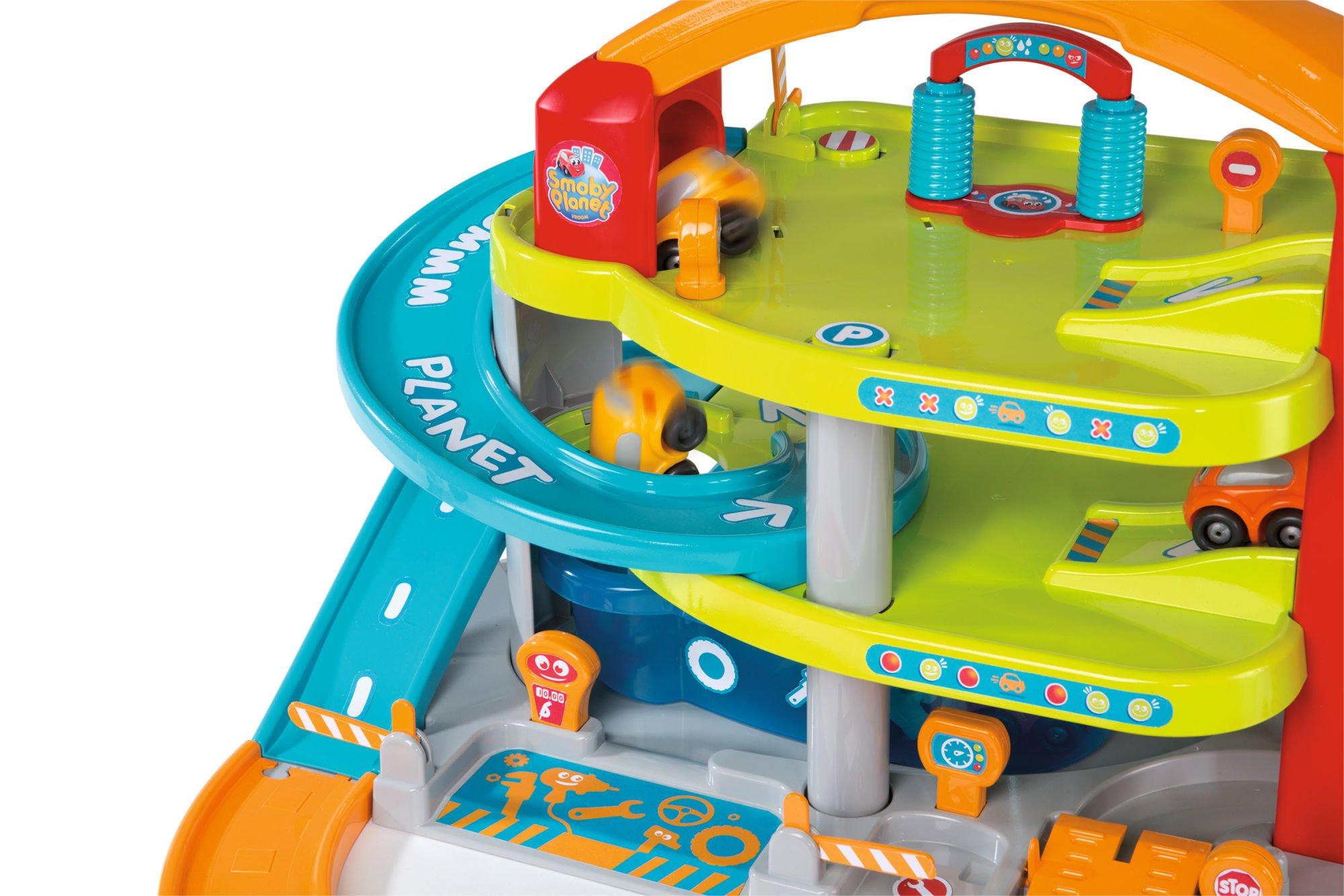 Smoby 120401 Vroom Planet Duży Piętrowy Garaż Z Autkiem Dla Dzieci