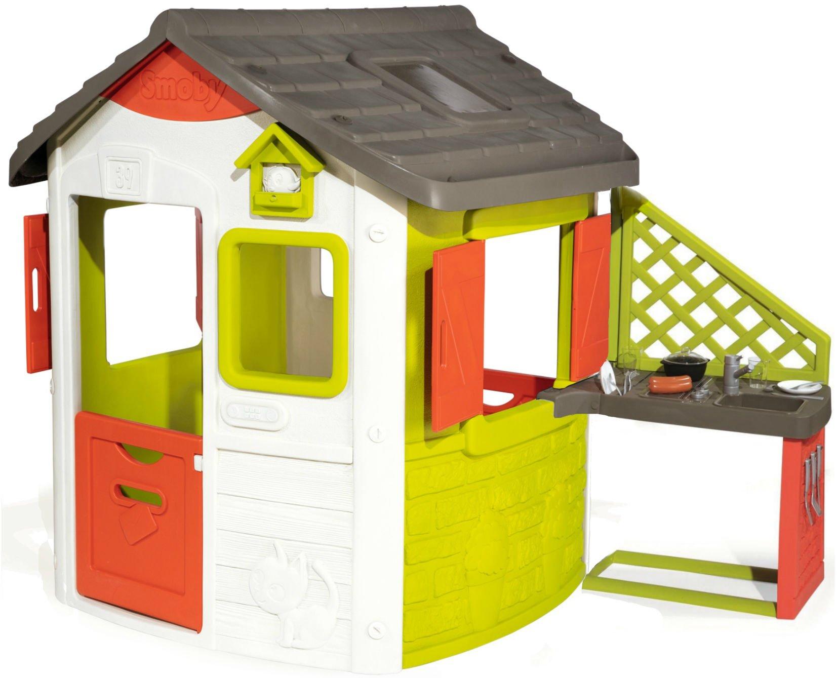 Smoby 810500 Domek Ogrodowy Dla Dzieci Neo Jura Kuchnia Letnia