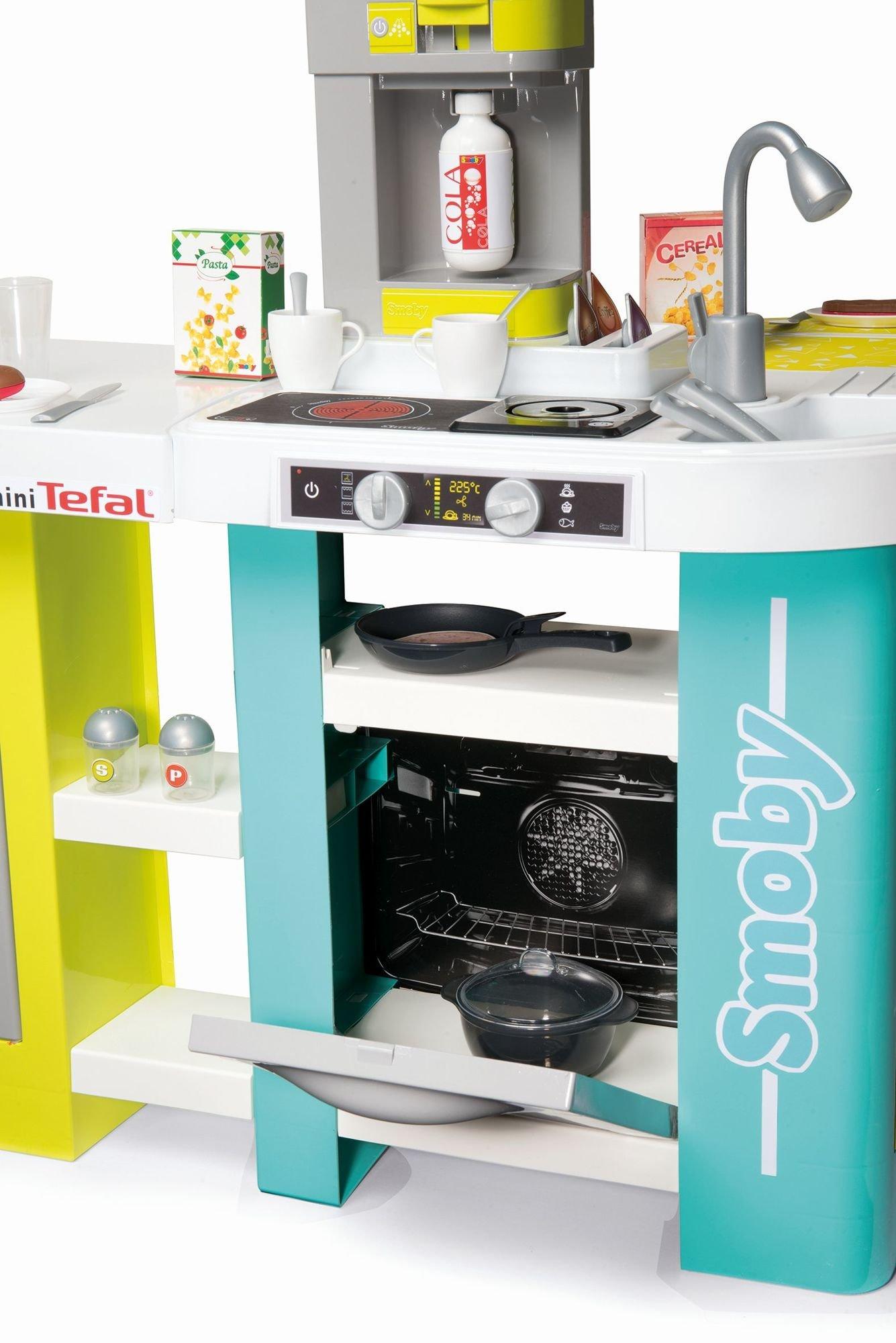 Smoby Duża Kuchnia Dla Dzieci Tefal Studio Xl Bubble 34 Akcesoria Magiczny Garnek