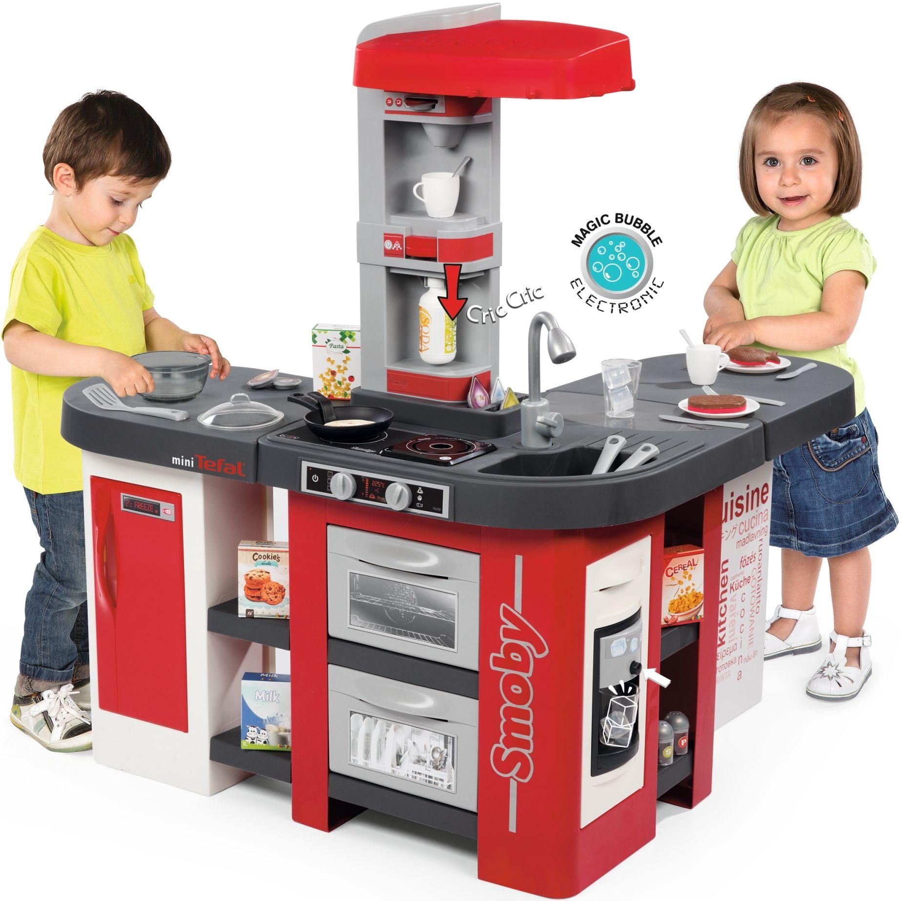 Smoby Duża Kuchnia Dla Dzieci Mini Tefal Studio Bubble Xxl