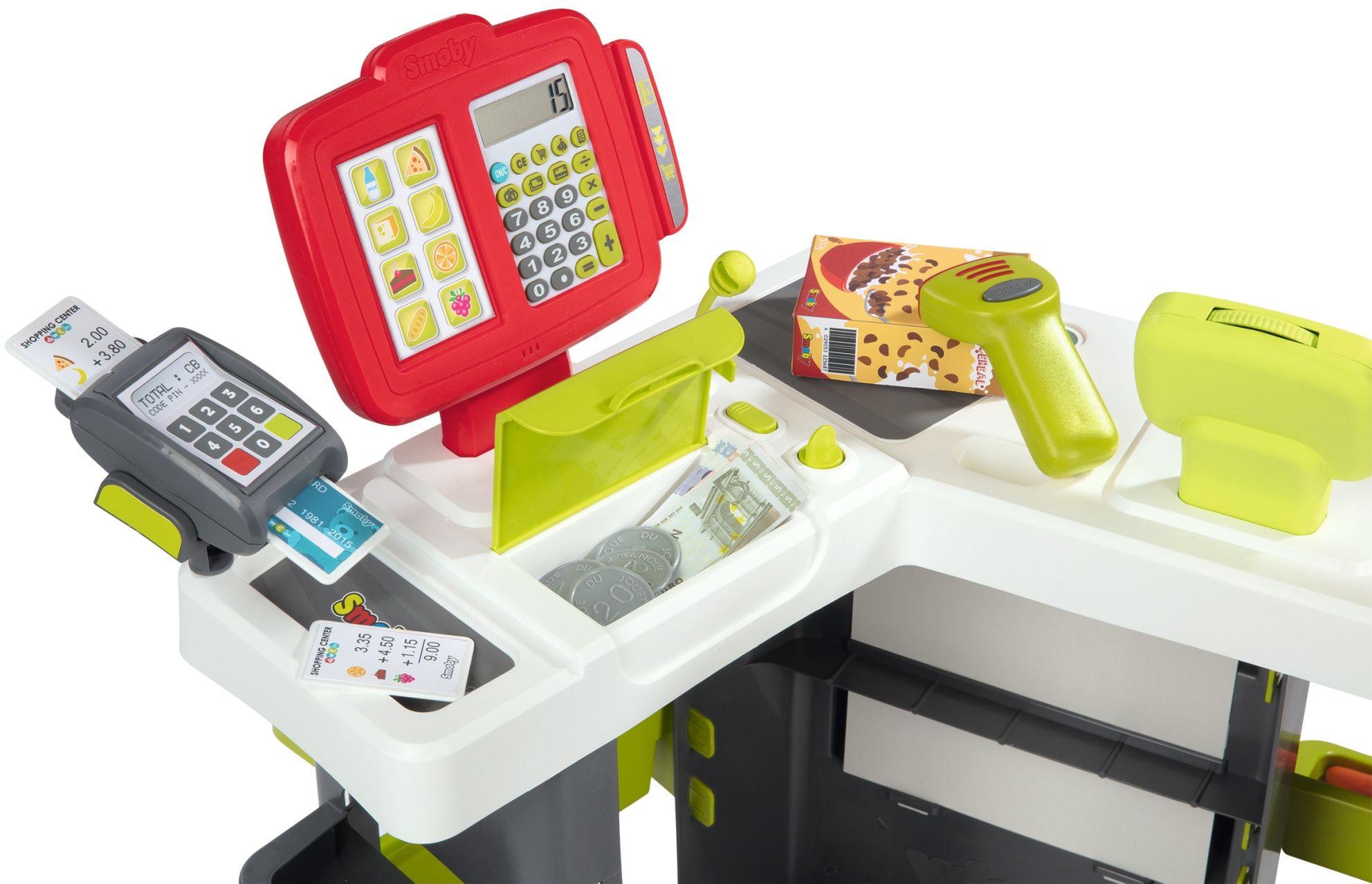 7298ec06b76e6d Smoby Supermarket Sklep dla dzieci wózek sklepowy 42 akcesoria Kliknij, aby  powiększyć