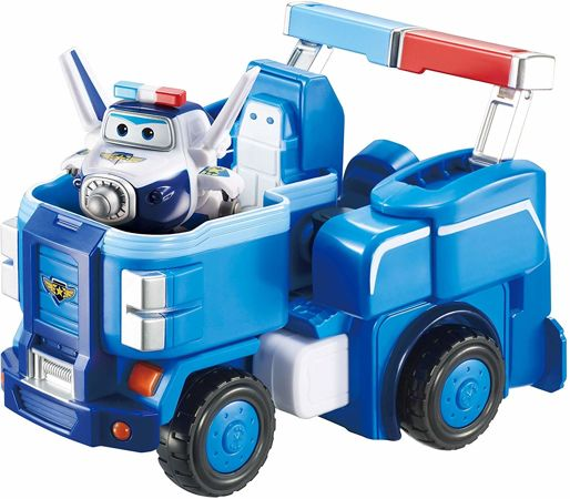 Cobi Super Wings Pojazd transformujący i figurka Trafik Paul