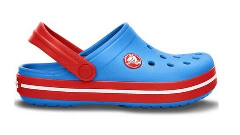 Crocs Crocband Ocean Red Niebieskie czerwone klapki