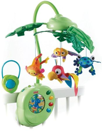 FISHER PRICE Karuzela RAINFOREST Tropikalny Las + PILOT K3799