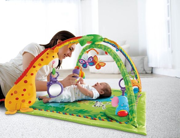 Fisher-Price K4562 Rainforest Mata edukacyjna