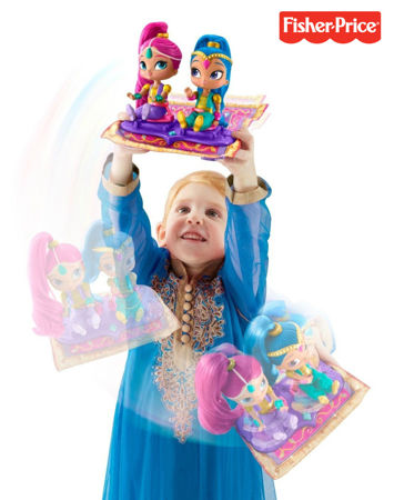 Fisher Price Lalki Shimmer i Shine Magiczny Dywan