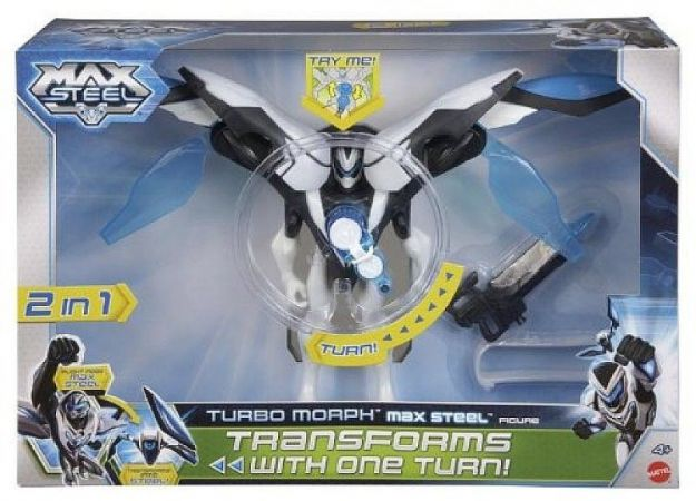 MAX STEEL TRANSFORMACJA TURBO MORPH FIGURKA BHJ07