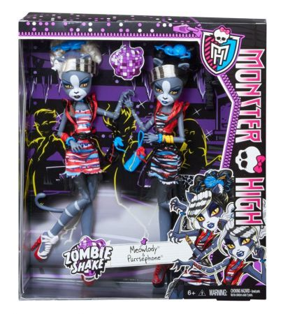 Monster High Zombie Shake Meowlody i Purrsephone