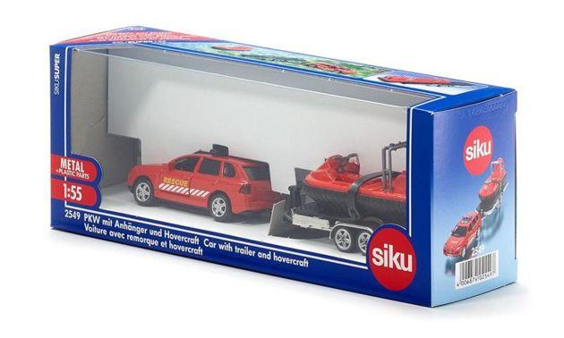 Siku super 2549 porsche cayenne turbo wraz z przyczep z poduszkowcem 1 55 - Super sayenne ...