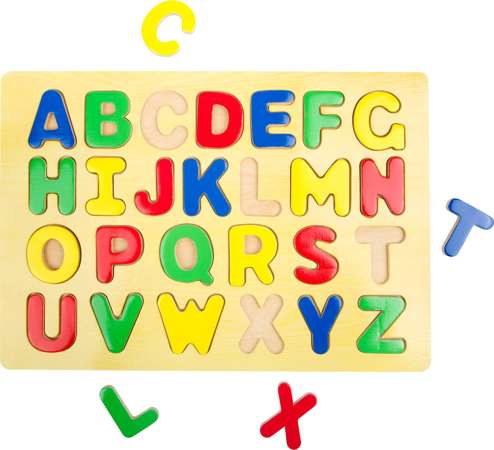 Small Foot Drewniane puzzle ABC