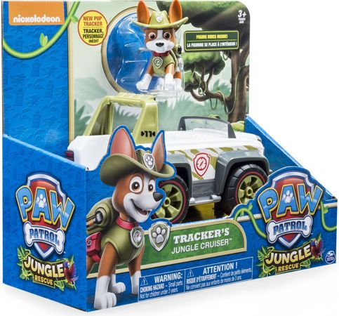 Spin Master Psi Patrol Tracker Jeep Pojazd z figurką Jungle